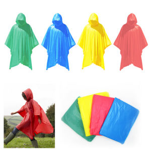 Lightweight Waterproof PVC Rain Poncho with Hooded for Traveling pictures & photos