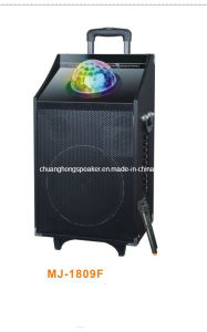 Bluetooth Trolley Battery Speaker with Disco Light (MJ-1809F)