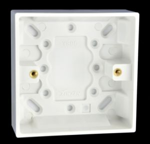 16mm Deep Moulded Surface Single Switch Box/Patress