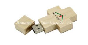USB Flash Drive USB Stick Wood Cross OEM Logo Gifts Pendrives USB Flash Card Memory Stick USB Drive Thumb Flash USB memory Card Flash Drive pictures & photos