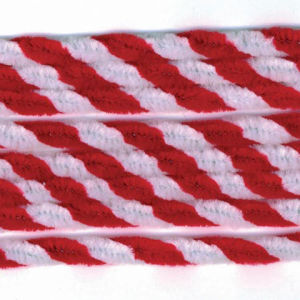 Chenille Stems, Red and White Twist pictures & photos