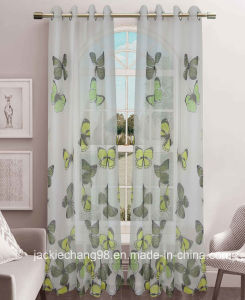 Printed Voile Grommet Curtain for Home Textile pictures & photos