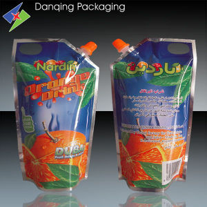 Orange Juice Pouch250ml with Corner Spout pictures & photos
