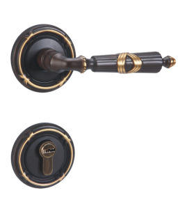 Antique Style Solid Brass Cylinder Door Lever Lock pictures & photos