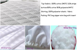 Fashion Dobby Stripe Mattress Pads pictures & photos