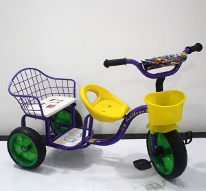 New Model Twins Baby Tricycle with Two Seats Kids Outdoor Toys pictures & photos