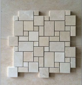 Cream Marfil Frech Pattern Beige Marble/Travertine Tiles Mosaic pictures & photos