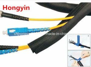 Open Braided Expandable Sleeve Self-Closing Cable Wrap pictures & photos