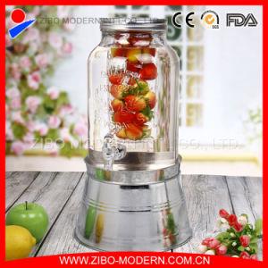 Glass Beverage Jar Glass Juice Jar Beverage Dispenser pictures & photos