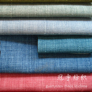 Short Pile Flocking Polyester Linen Fabric Oxford Style pictures & photos