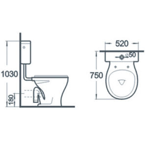 Sanitary Ware Close Stool Bathroom Two Piece Ceramic Toilet pictures & photos