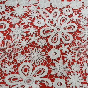 Fashion Embroidery Crochet Polyester Lace Fabric (L5137) pictures & photos