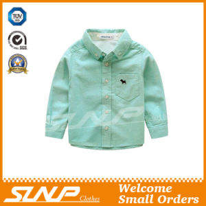Boy Long Sleeve School Uniform Shirt with 100% Cotton