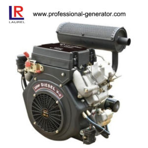 20HP Air Cooled V Twin Diesel Engine pictures & photos