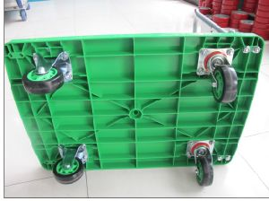 150kg Green Color Plastic Platform Hand Truck Noiseless Folding Trolley pictures & photos