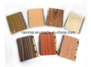 Eco Spiral Wooden Notebook with Different Nature Wood Color pictures & photos