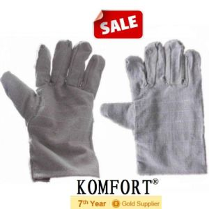 White Protective Welding Labor Canvas Work Glove (JMC-410D) pictures & photos
