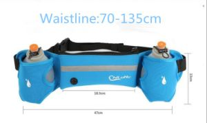 Multi-Function Outdoor Cycling&Running 2 Kettles Waterproof Waist Bag pictures & photos