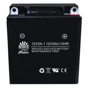 Sealed Maintenance Free Motorcycle Battery with CE UL Certificate Called 12V5A-1 pictures & photos