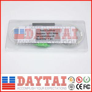 FTTH Sc/APC 0.9mm Fiber Optical Single Mode PLC Splitter 1*2 pictures & photos