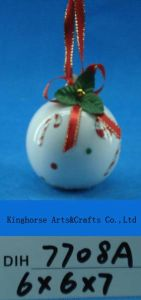 Hand-Painted Ceramic Snowman Ball for Christmas Tree Decoration pictures & photos