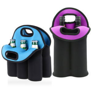 Mix Color Neoprene Insluated Can Bottle Cooler/Insulated Neoprene Wine Carrier Tote Bag + 6 Pack Beer Water Can Carrier Tote Bottle Holder Baby Cooler Bag pictures & photos