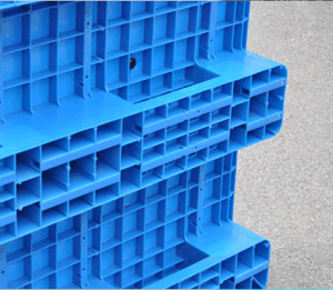 Warehouse Products Plastic Pallet 1200*1000*150mm Heavy Duty 1.5t Rack Load Virgin HDPE Plastic Tray with 7 Steel Bar pictures & photos