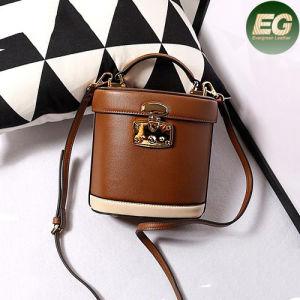 Color Collision Ladies Handbags Real Leather Mini Shoulder Bag Emg4853 pictures & photos