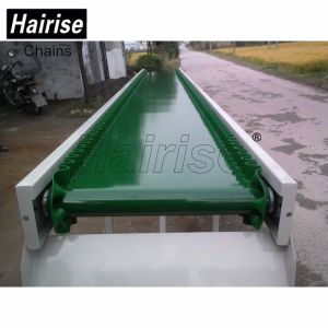 Chocolate Industrial Food Grade Turning PU PVC Green Belt Conveyor pictures & photos
