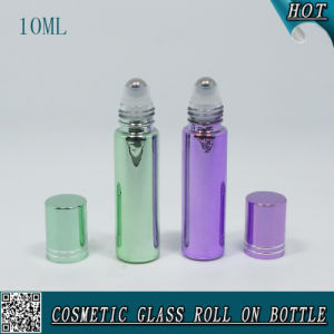10ml Electroplated Glass Roll on Bottle with Aluminium Cap pictures & photos