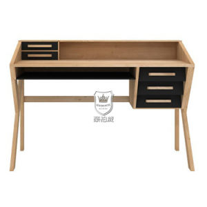 Italy Oak Timber Wood Writing Desk with Hutch pictures & photos