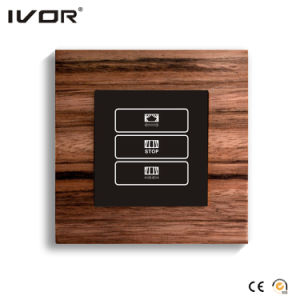 1 Gang Curtain Switch Wood Outline Frame (HR1000-WD-CT(AC1)) pictures & photos