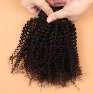 Best Quality 8A Brazilian Kinky Curly Virgin Hair Extensions Unprocessed Kinky Curly Human Hair Extensions for Black Women pictures & photos