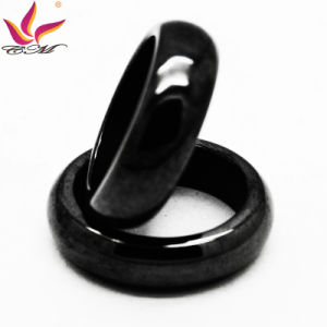 Htr-006A Classical Fashion Original 6mm Width Black Shining Hematite Finger Ring