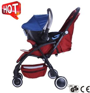 2017 Aluminum Frame Luxury Fold Baby Stroller with European Standard pictures & photos