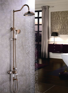 New Design Single Handle Zf-701 Jade Brass Shower Set pictures & photos