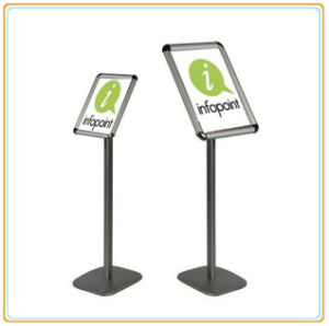 New Design Luxury Aluminum Banner Frame Exquisite Poster Stand (A4) pictures & photos