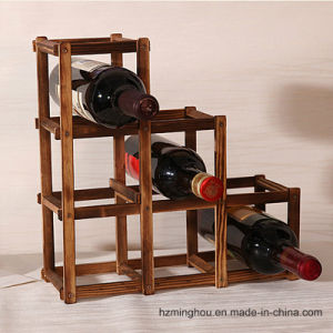 Wood Bamboo Wine Bottle Rack for Storage Rack Display Rack pictures & photos