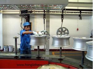 Powder Spray Coating/Painting Equipment for Wheel Hub pictures & photos