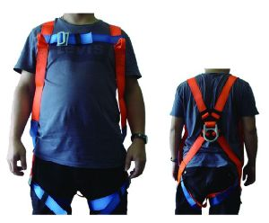 Polyester Harness Industrial Safety Belt with Double Webbing Lanyard pictures & photos