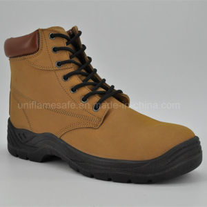 High Quality Leather Middle Cut Women Safety Shoes pictures & photos