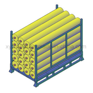 Stackable Storage Rack Textile Industrial Folding Stillage for Fabric Rolls pictures & photos