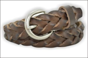 Coffee Braided Fashion Leather Belt pictures & photos