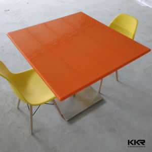 5 Star Hotel Restaurant Furniture Solid Surface Table pictures & photos