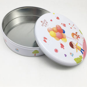 Macaroon Cookie Package Round Shaped Bascuit Tin pictures & photos