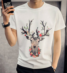 Custom Quality Spacewadding/ Space Cotton Printing Man′s T Shirt of Round Neck pictures & photos