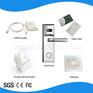 Elegand Electronic Mf Smart Card Lock, Hotel Door Lock pictures & photos