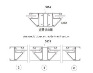 38 Series Casement Aluminium Alloy Extrusion Profile for Door and Window pictures & photos