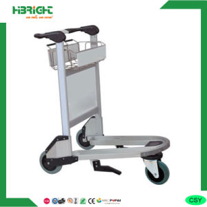 Hand Brake 3 Wheel Aluminum Airport Trolley pictures & photos