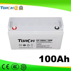 12V 100ah VRLA Deep-Cycle Solar Gel Battery for Power Station pictures & photos
